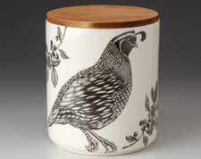Large Canister with Lid: Quail #1