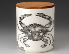 Large Canister with Lid: Blue Crab