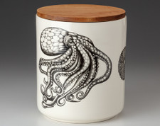 Large Canister with Lid: Octopus