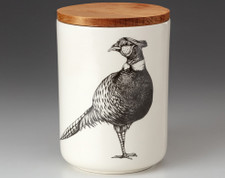 Medium Canister with Lid: Pheasant #1