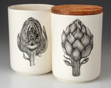Medium Canister with Lid: Artichoke