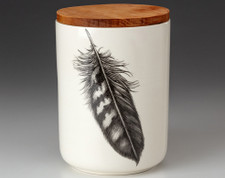 Medium Canister with Lid: Quail Feather