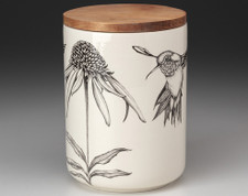 Medium Canister with Lid: Cone Flower