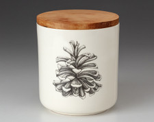 Small Canister with Lid: Pinyon Pine Cone