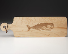 Maple Bread Board: Whale