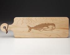 Maple Bread Board: Whale