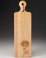 Maple Bread Board: Cactus Dahlia
