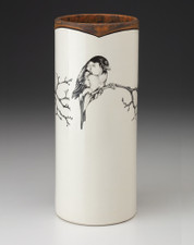 Large Vase: Chickadee