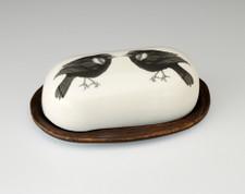 Butter Dish: Red-Winged Blackbird