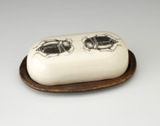 Butter Dish: Black Beetle