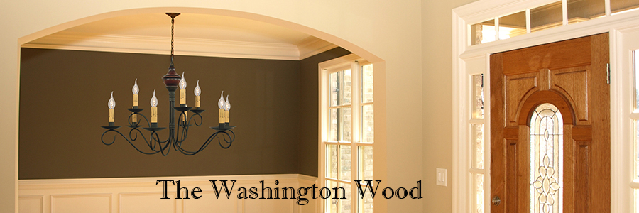 Colonial Style Washington Wood Chandelier by Katie's Handcrafted Lighting