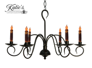 Katie's Handcrafted Lighting Franklin Candle Chandelier Finished In Aged Black Finish