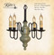 Katie's Handcrafted Lighting Chesapeake Mini Wood Chandelier Pictured In Early American Finish: Base Coat Color = Williamsburg Stone, Top Coat Color = Tate Olive, Trim Color = None