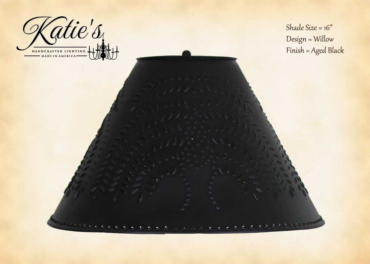 Picture of: Katie S Handcrafted Lighting Punched Tin Lamp Shade Primitive Lamp Shades
