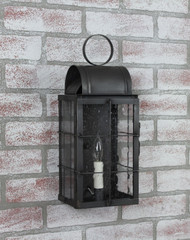 Katie's Handcrafted Lighting Small Danbury Outdoor Wall Lantern - Dark Brass