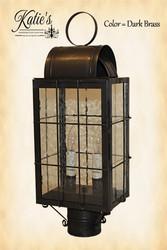Katie's Handcrafted Lighting Danbury Outdoor Post Lantern - Dark Brass