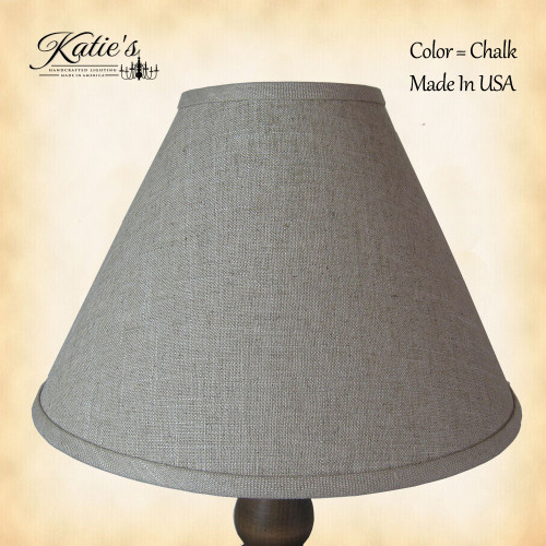 Chalk Linen Shade by Katie's Handcrafted Lighting - Made In USA