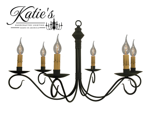 Katie's Handcrafted Lighting Adams Chandelier Finished In Aged Black