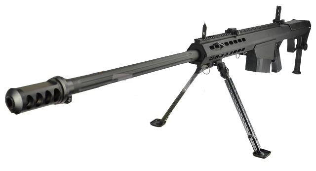 Snow Wolf SW-13 Metal M107A1 Sniper Rifle AEG in Black