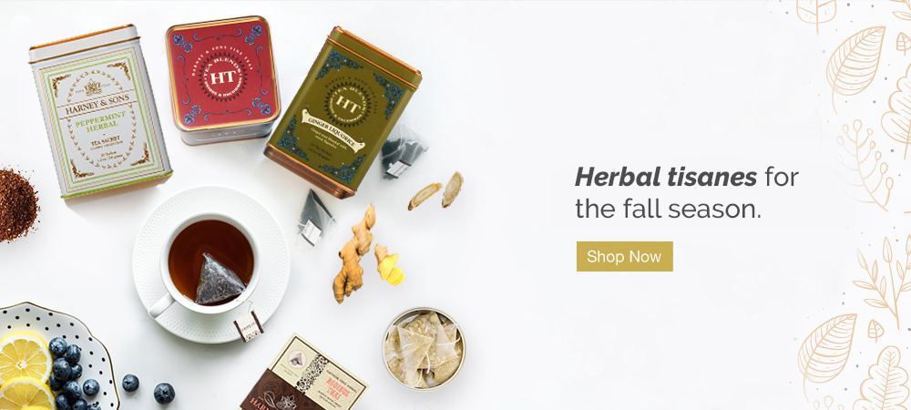 Herbal Tisanes for the fall season. Shop Now.