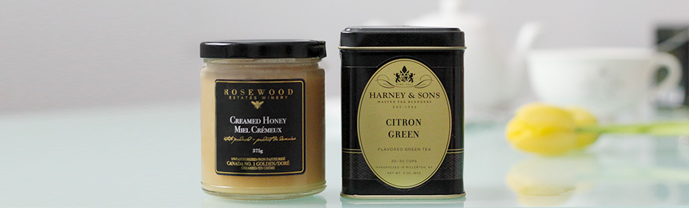 Rosewood Estates Creamed Honey & Harney & Sons Citron Green Tea