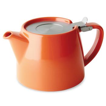 Orange Stump Teapot with Infuser (18 oz)
