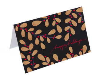 Say Happy Holidays with this beautiful greeting card.