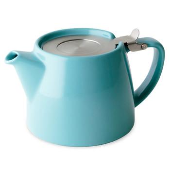 Turqoise Stump Teapot with Infuser (18 oz)
