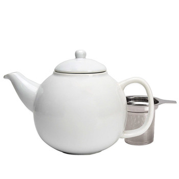 Ceramic Teapot with Stainless Steel Infuser (45 oz)