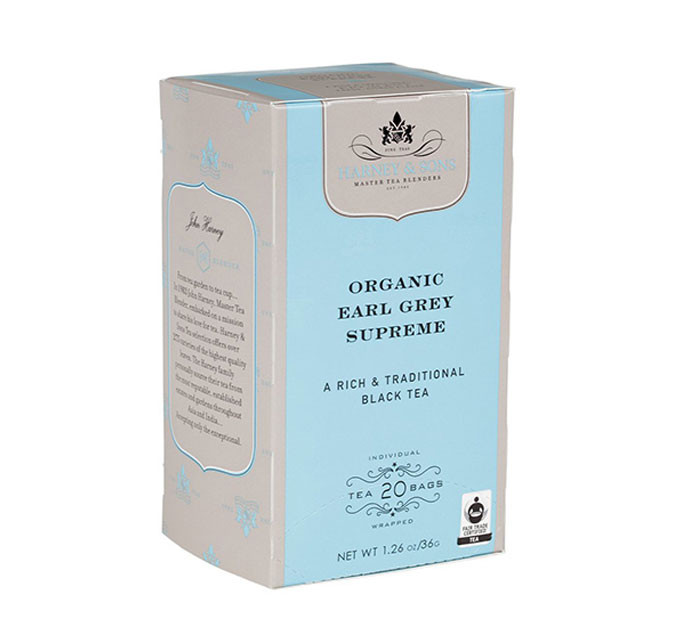 Harney & Sons Organic Earl Grey Supreme - 20 individually wrapped premium teasbags