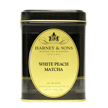 Harney & Sons White Peach Matcha Loose Tea 4 oz