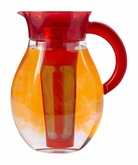 Iced Tea pitcher with removable infuser.