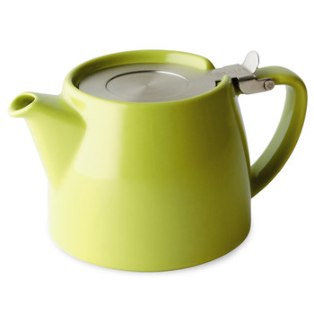 Lime Green Stump Teapot with Infuser (18 oz)