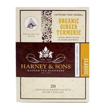 Harney & Sons Organic Ginger Turmeric Tea - 20 Wrapped Sachets