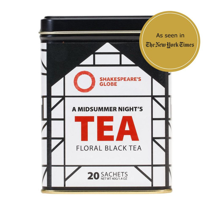 A Midsummer Night's Tea - Shakespeare Globe Tea - Floral Black Tea - 20 Sachets - as seen in The New York Times