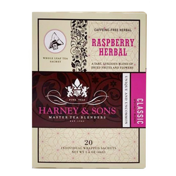 Raspberry Herbal Tea - 20 wrapped sachets