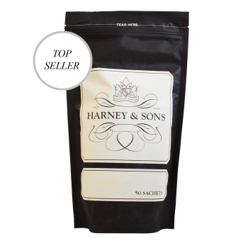 Our most popular flavored tea, this is an assertive blend of black teas, three types of cinnamon, orange peel, and sweet cloves (no sugar added). Please note: Hot Cinnamon Spice & Hot Cinnamon Sunset are the same tea; the name varies only in certain packaging.