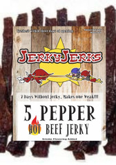 5 Pepper HOT Jerky Jerks