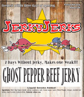 GHOST CHILI PEPPER ON OUR SWEETEST JERKY. Talk about Hot and Sweet!!!  What else can we say? HOT X4??
