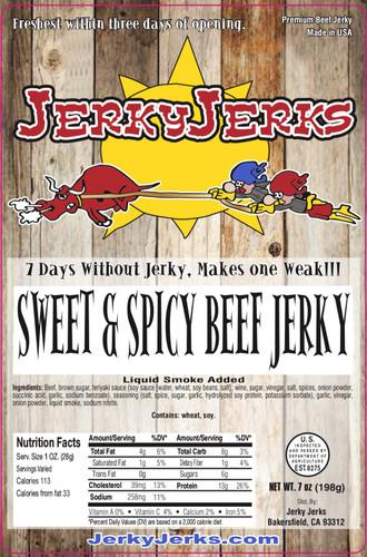 Sweet & Spicy Jerky