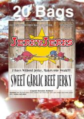 Sweet Garlic Premium Beef Jerky Full Case 20 Bags