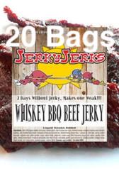 Whiskey BBQ Premium Beef Jerky Full CAse 20 Bags