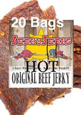 Original Spicy Hot Thin Cut Jerky Full CAse 20 Bags
