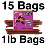 Mild Teriyaki Beef Sticks Simon Wong Full Case 15 Bags, 15lbs