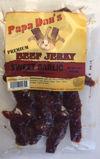 Great tasting Garlic Jerky. The perfect amount of Garlic not overpowering.  A fan favorite at Garlic Festivals.