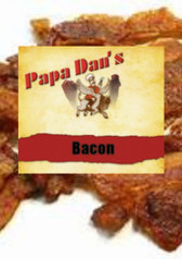 Papa Dan's Bacon jerky is made with only the finest Pork meat available. Thin cut with a smoky, Amazing flavor.