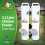 Twin Pack of small Chicken feeders
