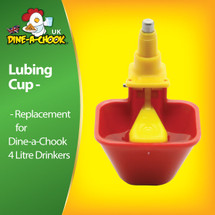 Dine a Chook Lubing Cup. Suits all Dine a Chook Chicken Drinkers