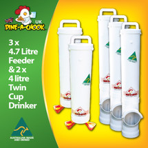 Save money with our Large Chicken Feeder and Drinker kit.