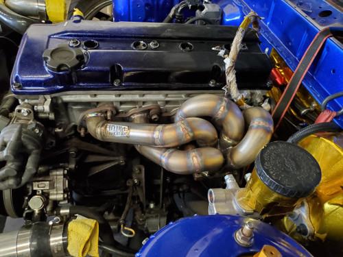 Ka24de Stock Style Turbo Manifold, S13.